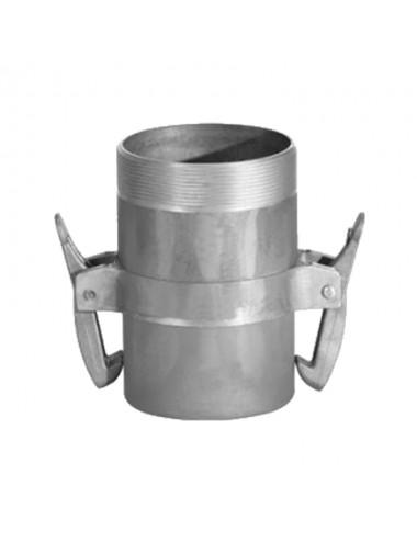 Adaptor cu filet exterior - TATA - ∅125 - cu clesti